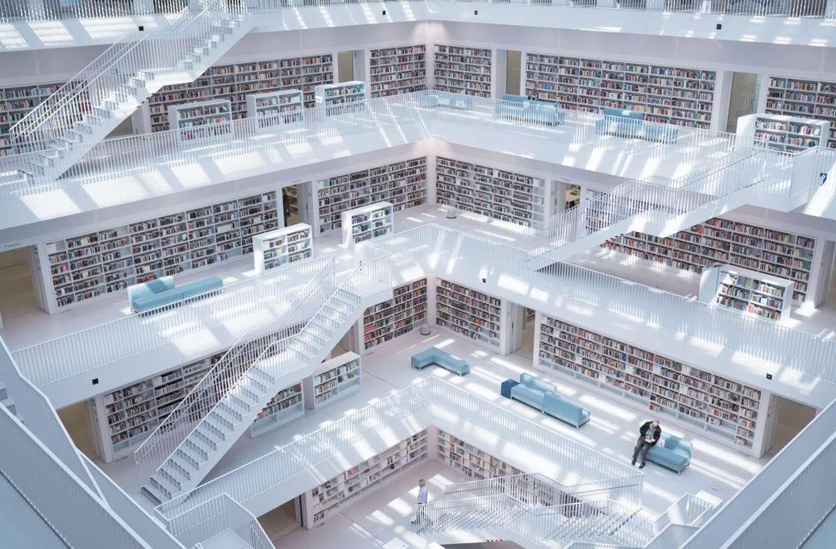 Die Stadtbibliothek ist eines der beliebtesten Stuttgarter Instagram-Motive. Das stellt die Institution durchaus vor Herausforderungen ... Foto: Unsplash/Max Langelott