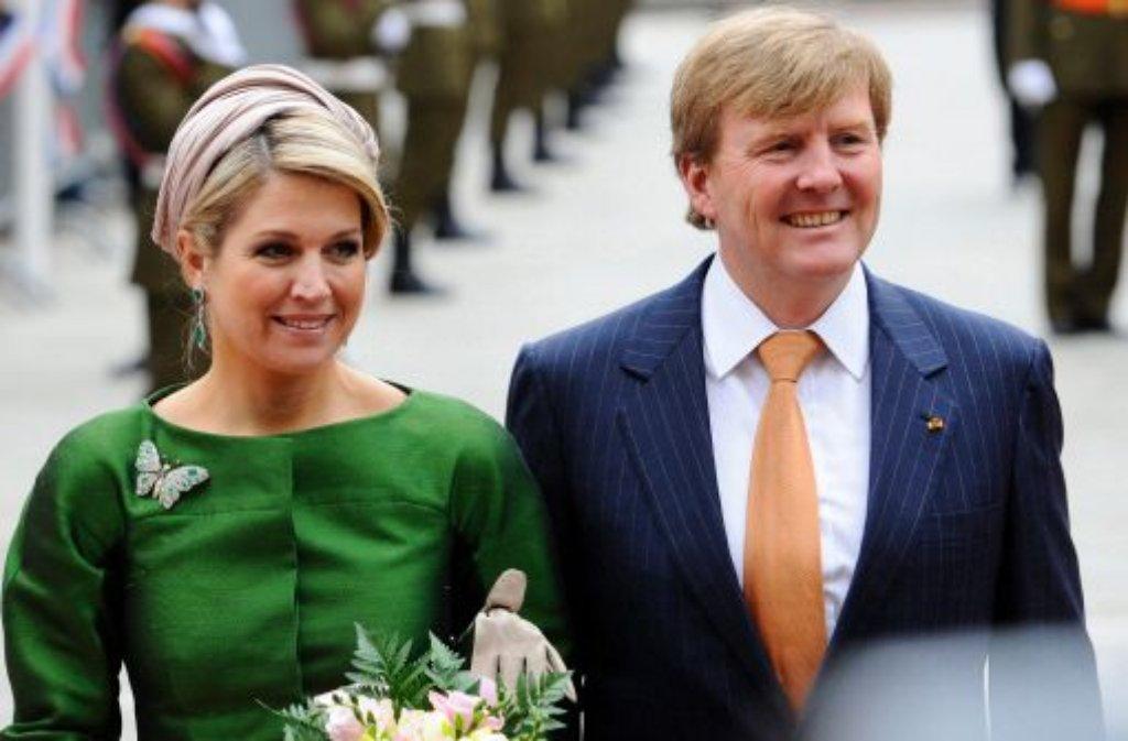 Erst seit dem 30. April sind Willem-Alexander und Máxima König und Königin der Niederlande. Am 4. Juni besuchen sie Stuttgart. Foto: dpa