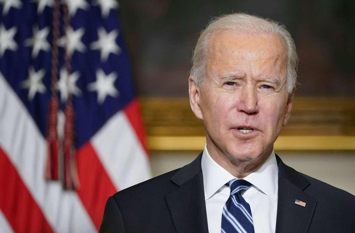 """""""Jeder Arbeiter sollte die freie und faire Wahl haben, sich einer Gewerkschaft anzuschließen"""", sagte US-Präsident Joe Biden. Foto: AFP/MANDEL NGAN"""