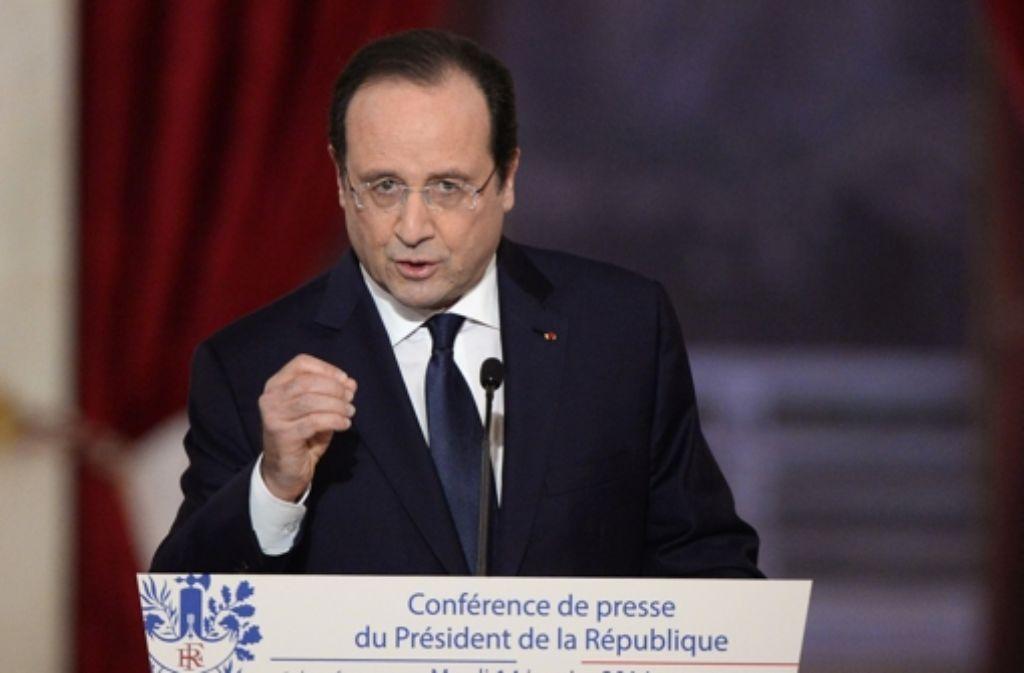 Frankreichs Präsident François Hollande will die Wirtschaft besser fördern. Foto: AFP