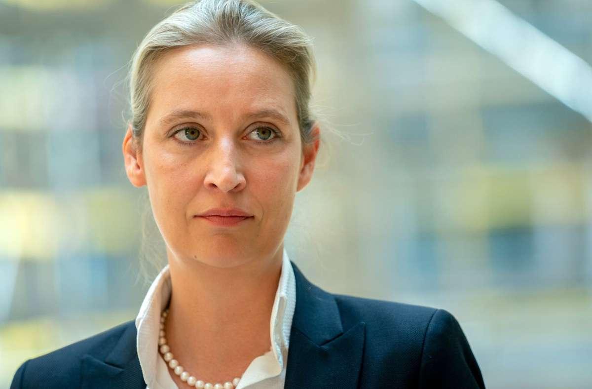 Spitzenkandidatin Alice Weidel. Foto: dpa/Kay Nietfeld