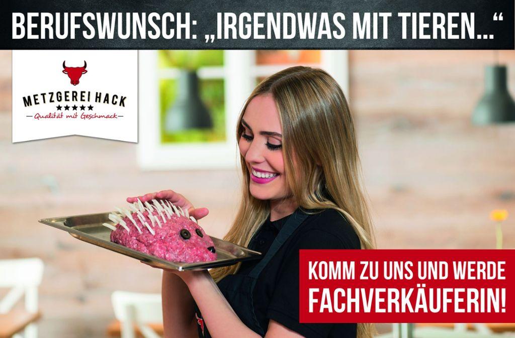 Die Image-Kampagne einer bayerischen Metzgerei sorgt auf Facebook für Wirbel. Foto: Christian Schranner / Idee&Konzept: Kasper Communications