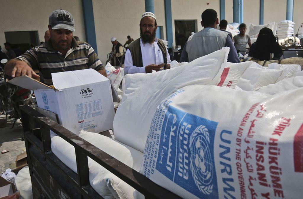 Die UN-Behörde UNRWA unterstützt palästinensische Flüchtlinge. Foto: AFP