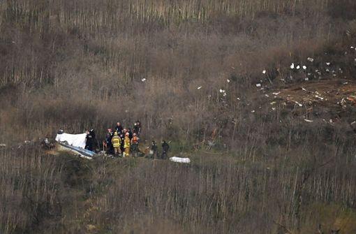 Kobe Bryants Helikopter stürzte bei Nebel in einen Berghang