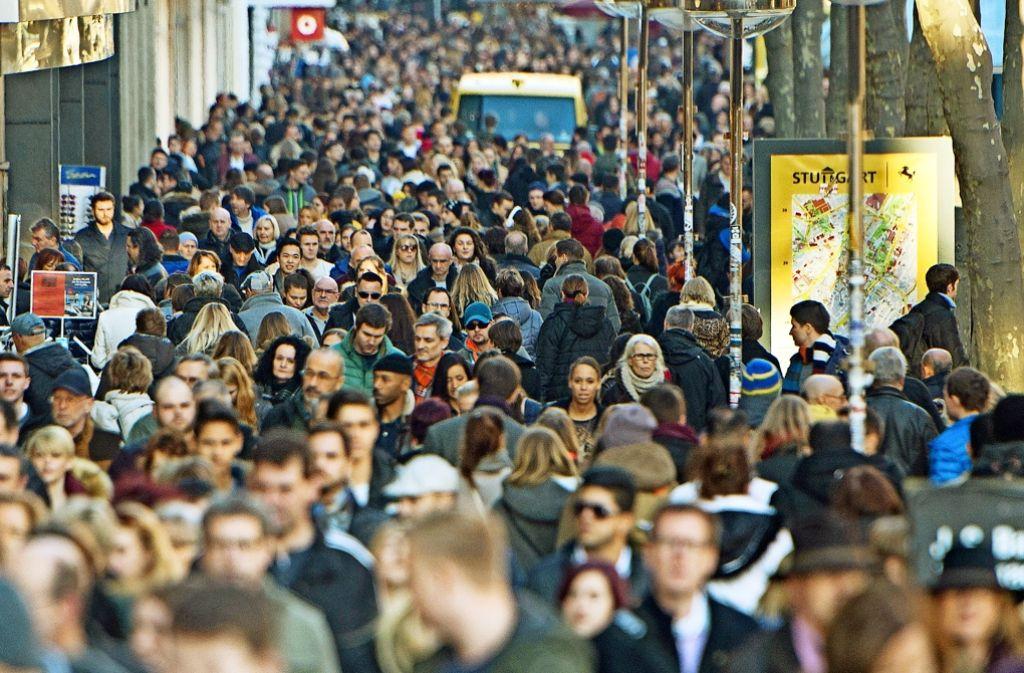 Eigentlich sollten die Kunden am verkaufsoffenen Sonntag nach Stuttgart gelockt werden – nun ist die Veranstaltung aber abgesagt worden. Foto: dpa