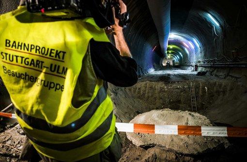 Beim Tunnelbau für Stuttgart21 sind nun erstmals Strecken durch den schwierigen Anhydrit geschafft worden. Foto: Lichtgut/Max Kovalenko