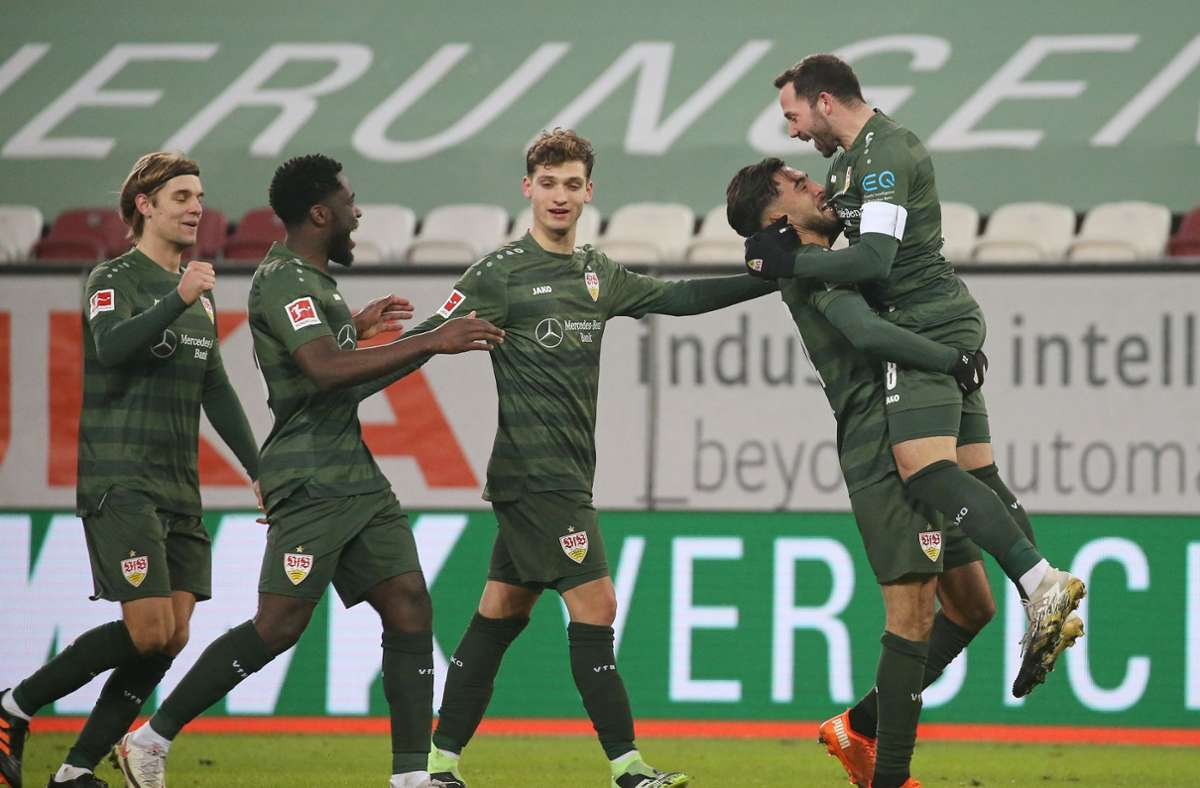 Gegen wen jubelt der VfB besonders oft in der Fußball-Bundesliga? Wir haben uns die Daten angesehen. Foto: Pressefoto Bauman/Alexander Kepp