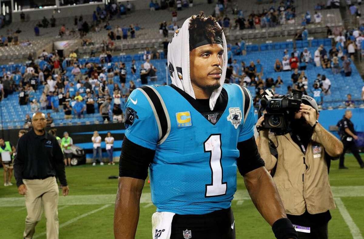 Ein starker Ty: Quarterback Cam Newton von den Patriots Foto: imago//John Byrum