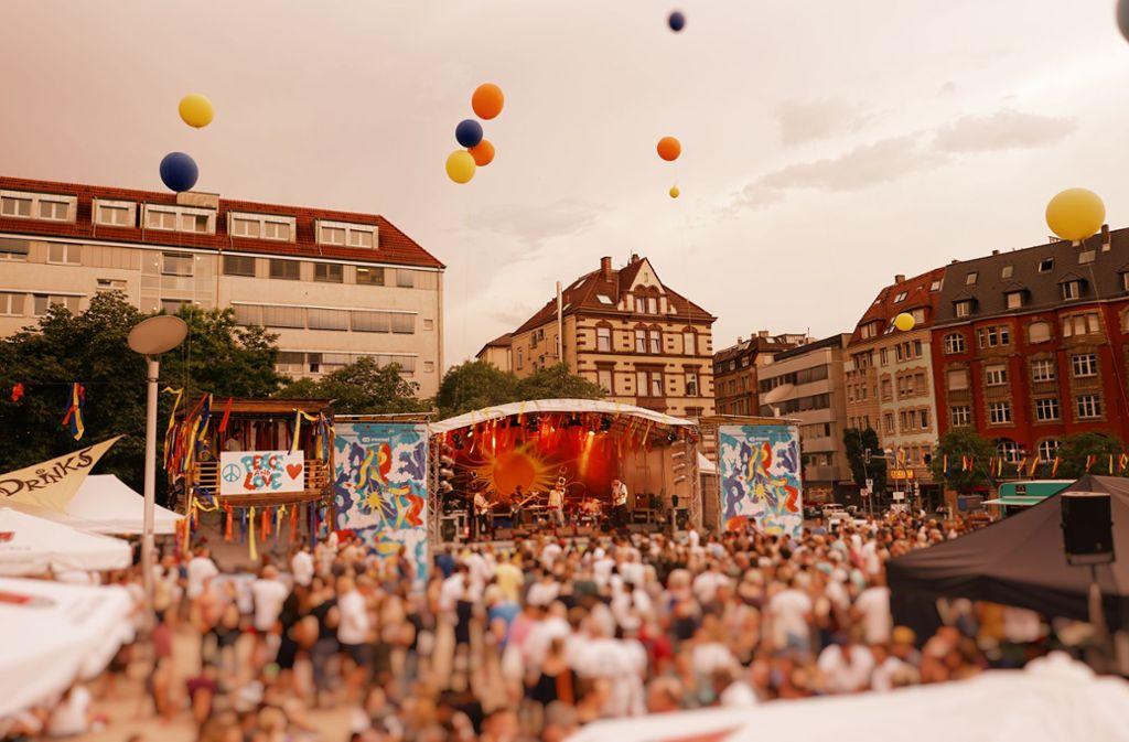 Das Marienplatzfest ist nur eines von mehreren Straßen- und Quartiersfesten, die am Wochenende in Stuttgart laufen. Foto: Marienplatz e. V.