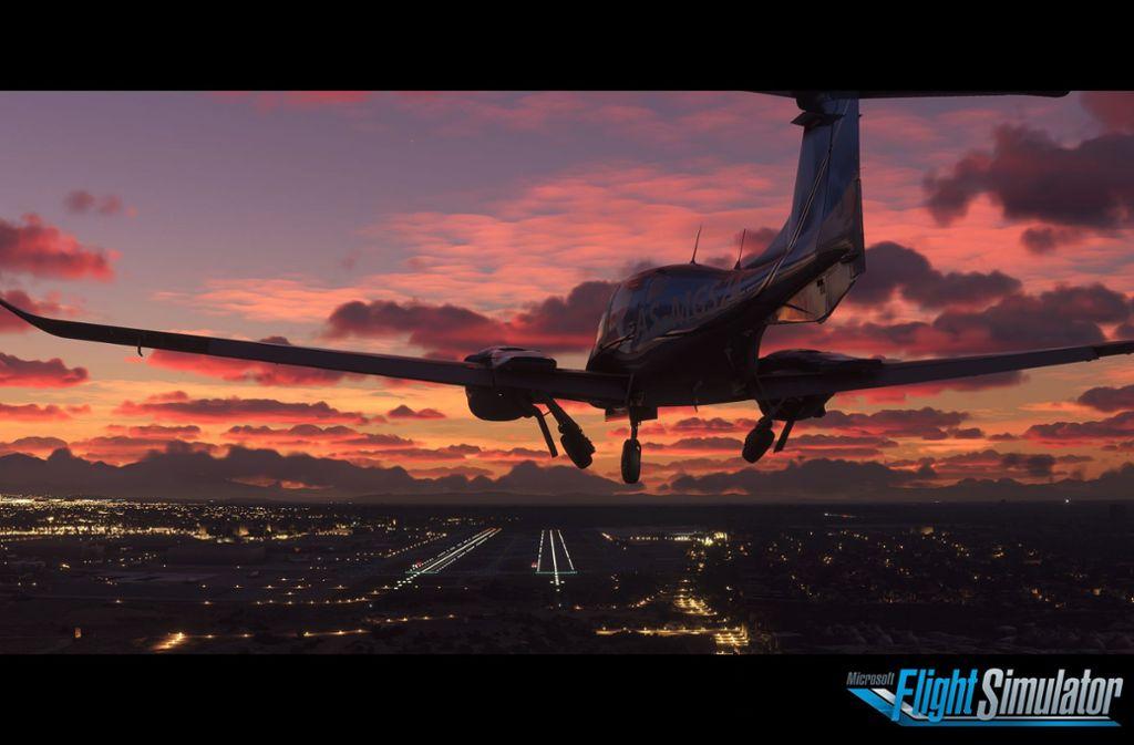 In hochauflösender 4K-Grafik können Hobbypiloten im kommenden Jahr mit dem Microsoft Flight Simulator um die Welt jetten. Foto: Microsoft