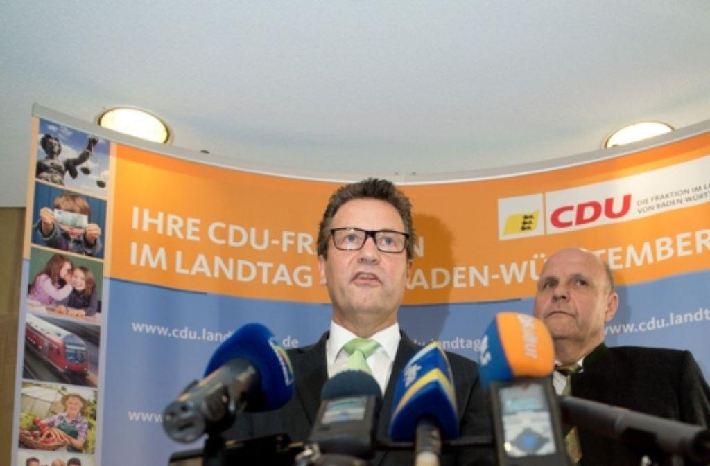 Peter Hauk und die CDU Fraktion machen sich für die Realschule stark. Foto: dpa