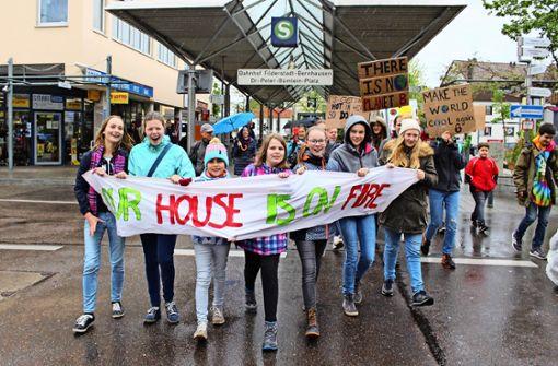 Auch in Filderstadt demonstrieren nun Schüler