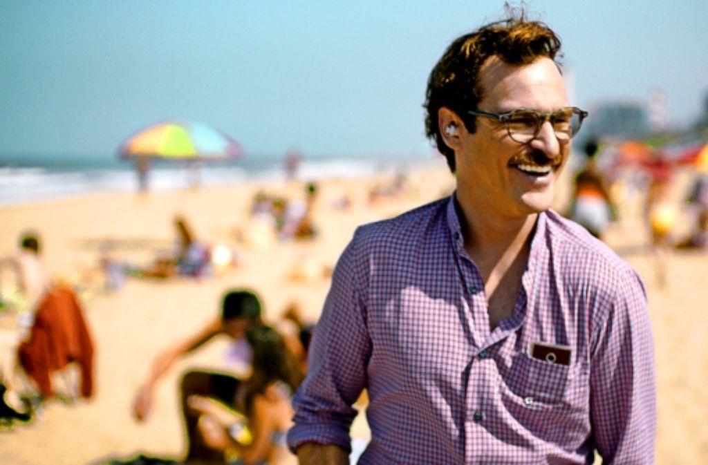 "Joaquin Phoenix in seiner aktuellen Rolle in ""Her"" Foto: dpa"