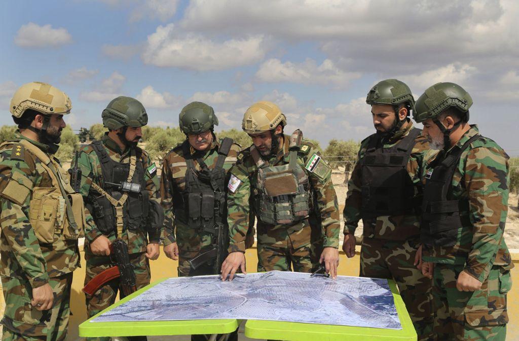 Das türkische Militär will in Nordsyrien gegen die Kurdenmiliz YPG vorgehen. Foto: dpa/Str