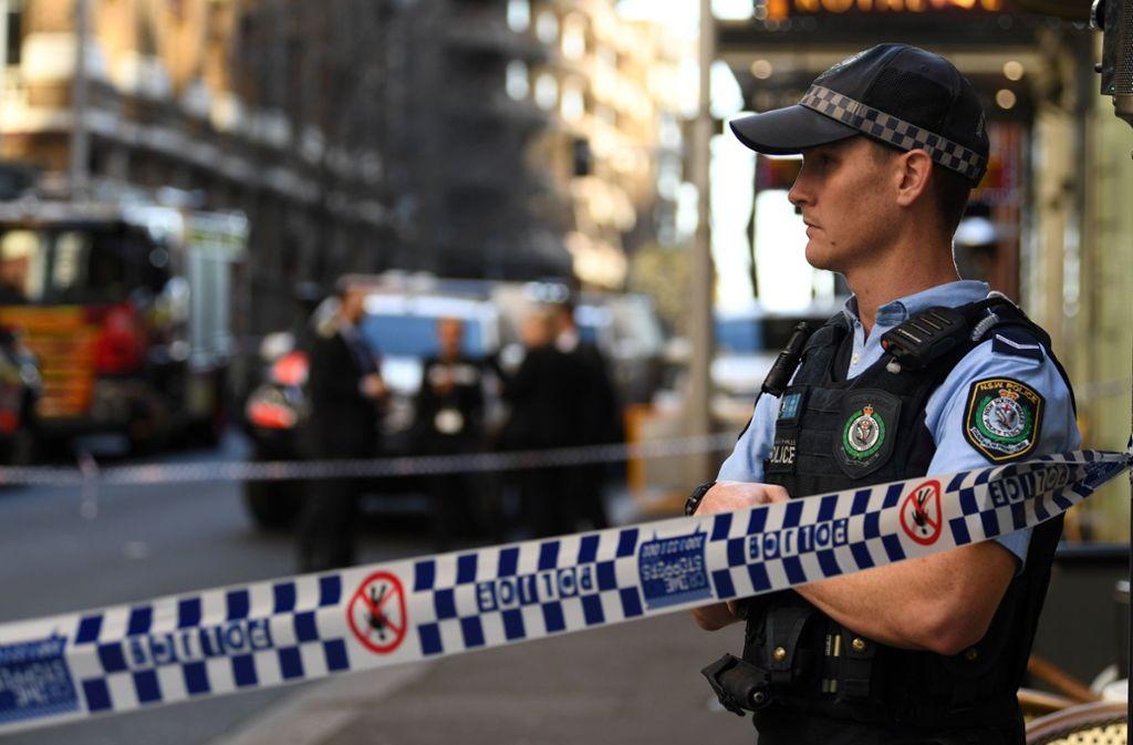 In Sydney hat ein Mann auf eine Frau eingestochen. Foto: AFP