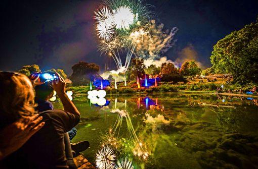 Das Feuerwerk am Stuttgarter Lichterfest wird gezündet