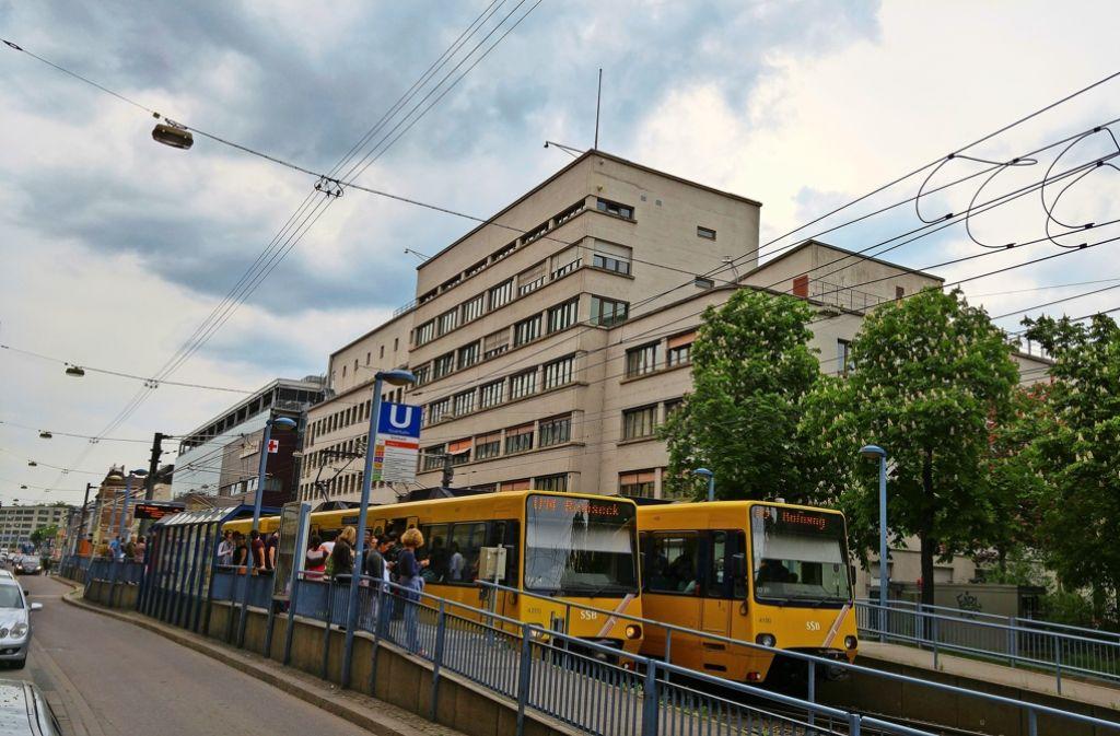 Die Haltestelle Stöckach ist der wichtigste Stadtbahnknoten für den Stadtbezirk Stuttgart-Ost. Foto: Jürgen Brand