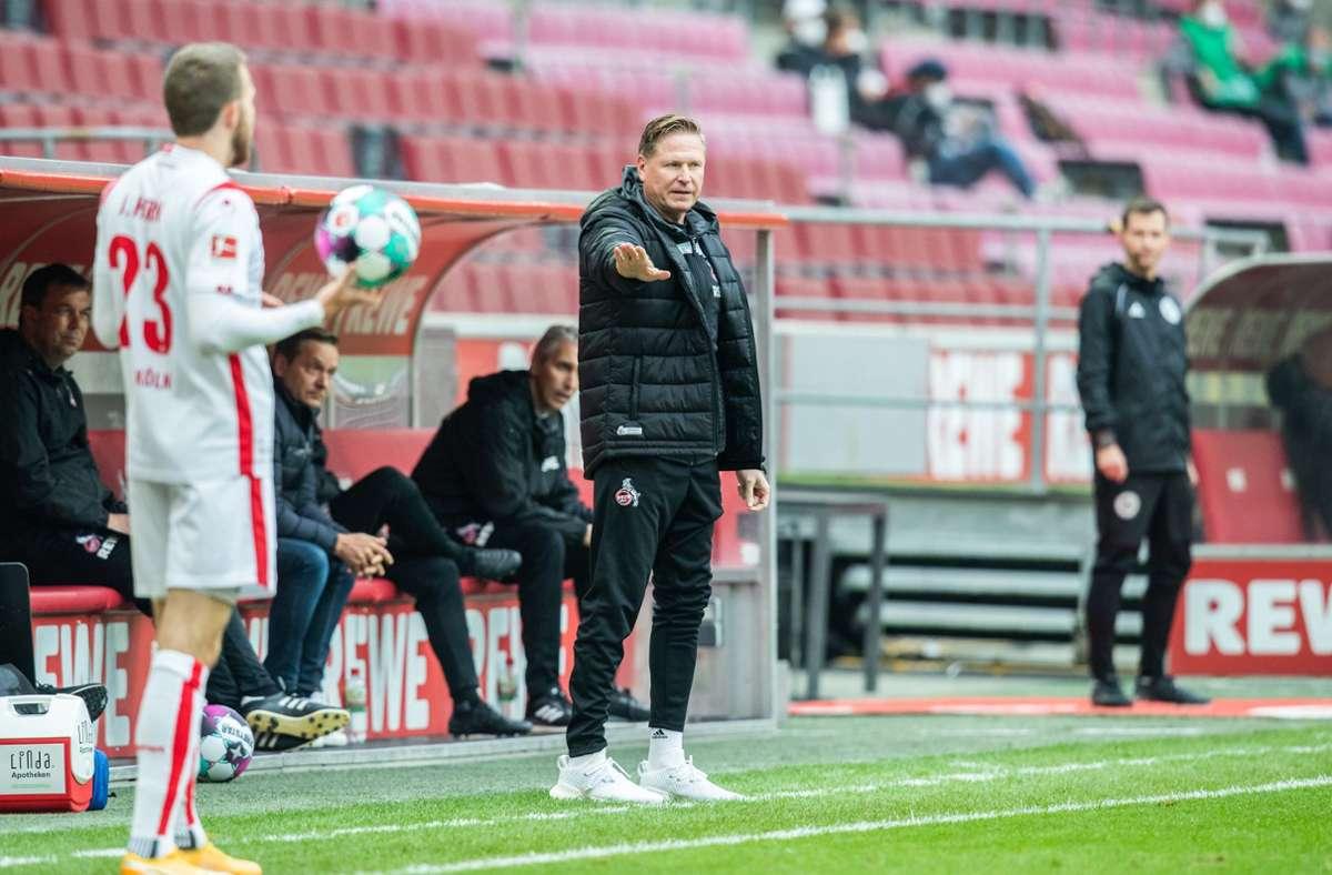 Unter Druck: Trainer Markus Gisdol und der 1. FC Köln. Foto: dpa/Marcel Kusch