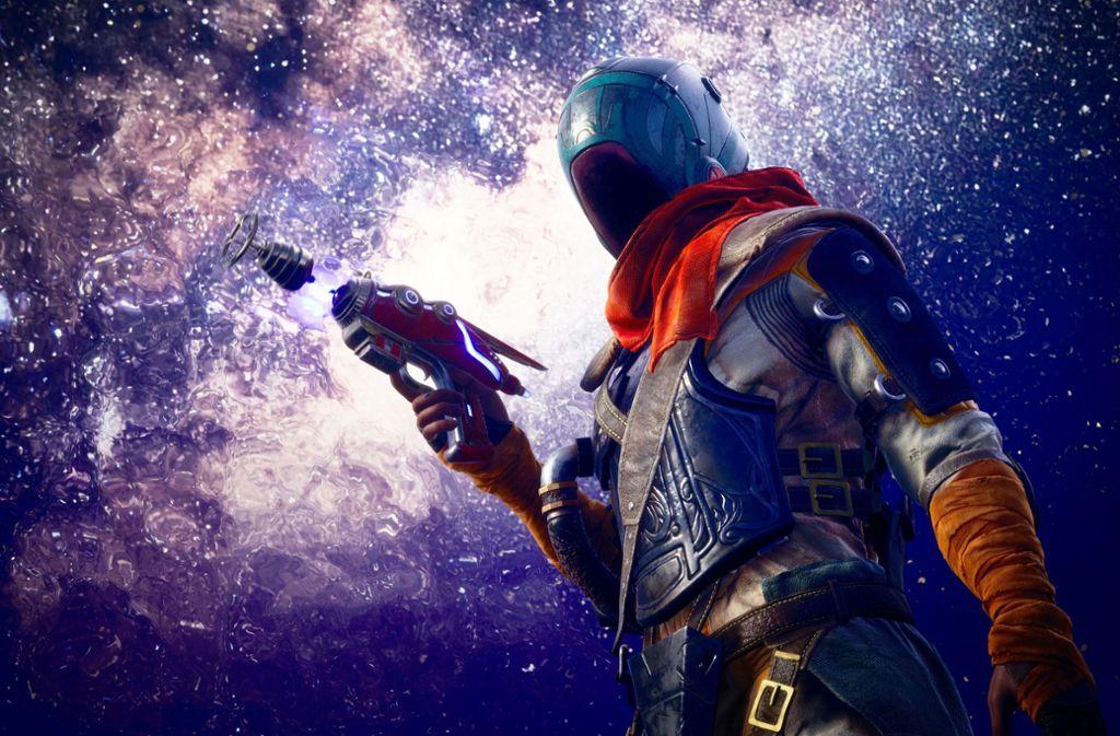 """In """"The Outer Worlds"""" übernimmt der Spieler die Rolle eines Abenteurers, der die menschliche Fracht eines verschollen geglaubten  Kolonistenraumschiffs retten soll. Foto: Obsidian Entertainment"""