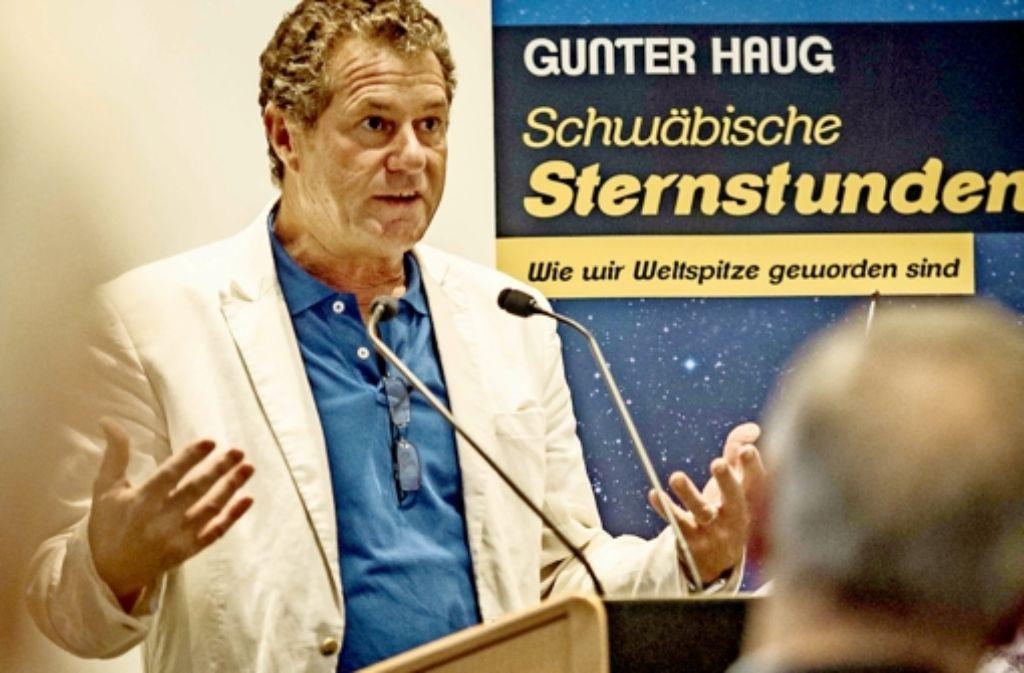 Gunter Haug hat sich in die Geschichte Schwabens eingearbeitet. Foto: Lg/Max Kovalenko