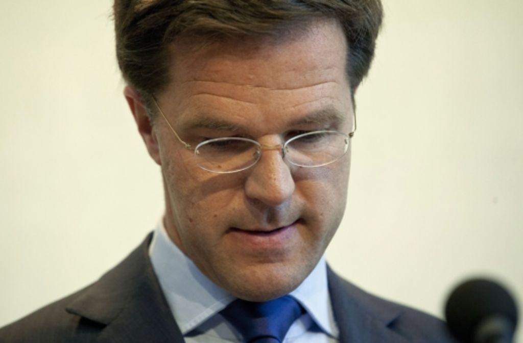 Der Niederländische Premier Rutte steht vor einem Scherbenhaufen. Foto: dpa