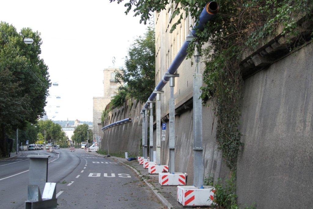 Die Straße Am Schloßgarten ist nur noch bis Donnerstag befahrbar. Dann wird sie dauerhaft gesperrt. Foto: Beytekin