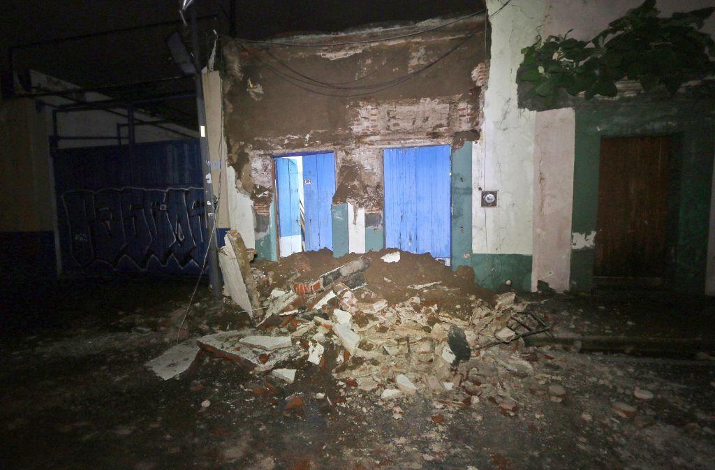 Das Erdbeben in Mexiko hat Opfer gefordert. Foto: AP