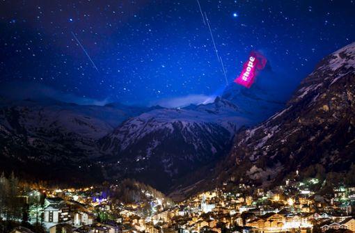 Matterhorn erstrahlt mit  Lichtinstallationen