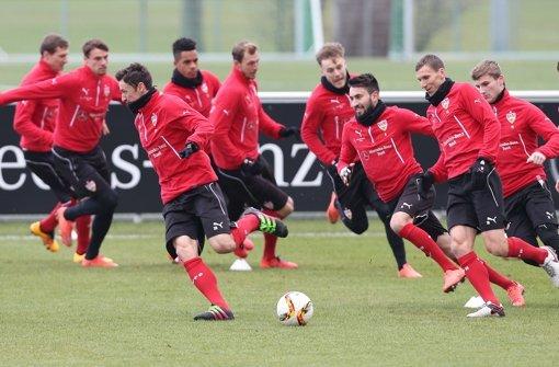 Warm-Up fürs Spiel gegen Hannover 96
