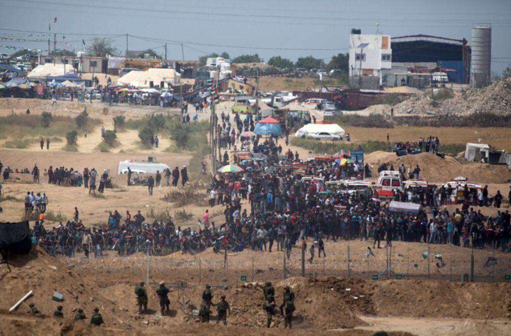 In Palästina ist es am Freitag wieder zu Ausschreitungen gekommen. Foto: Getty