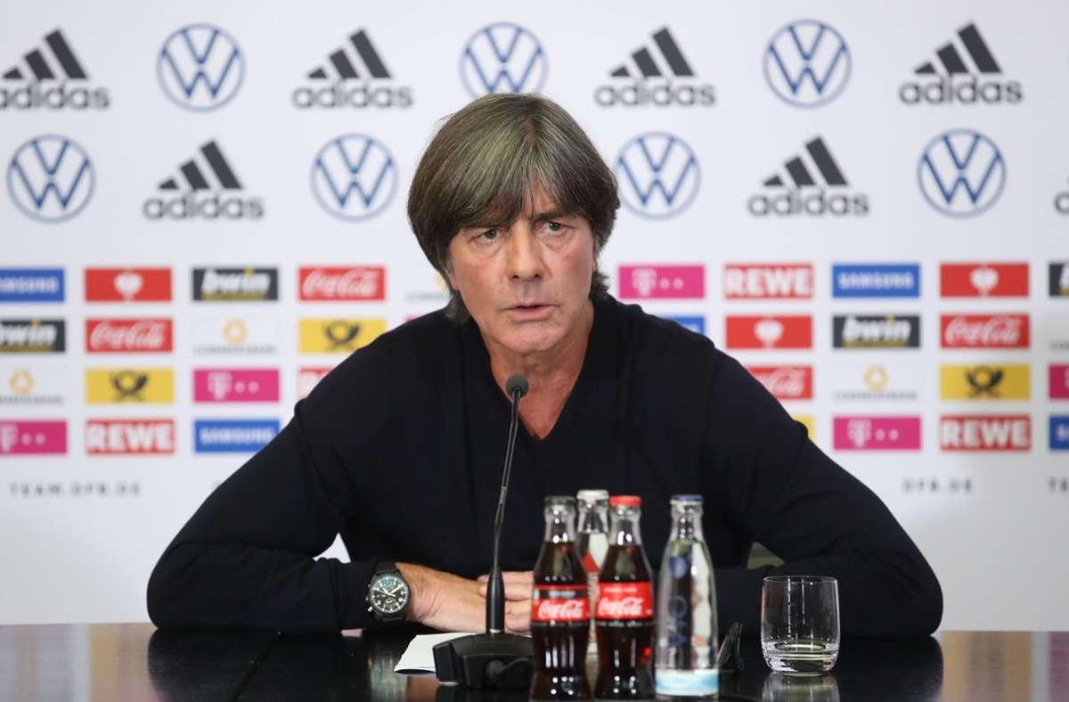 Die Vorfreude bei Bundestrainer Joachim Löw auf das Länderspiel gegen Spanien ist  groß. Foto: dpa/Alex Grimm