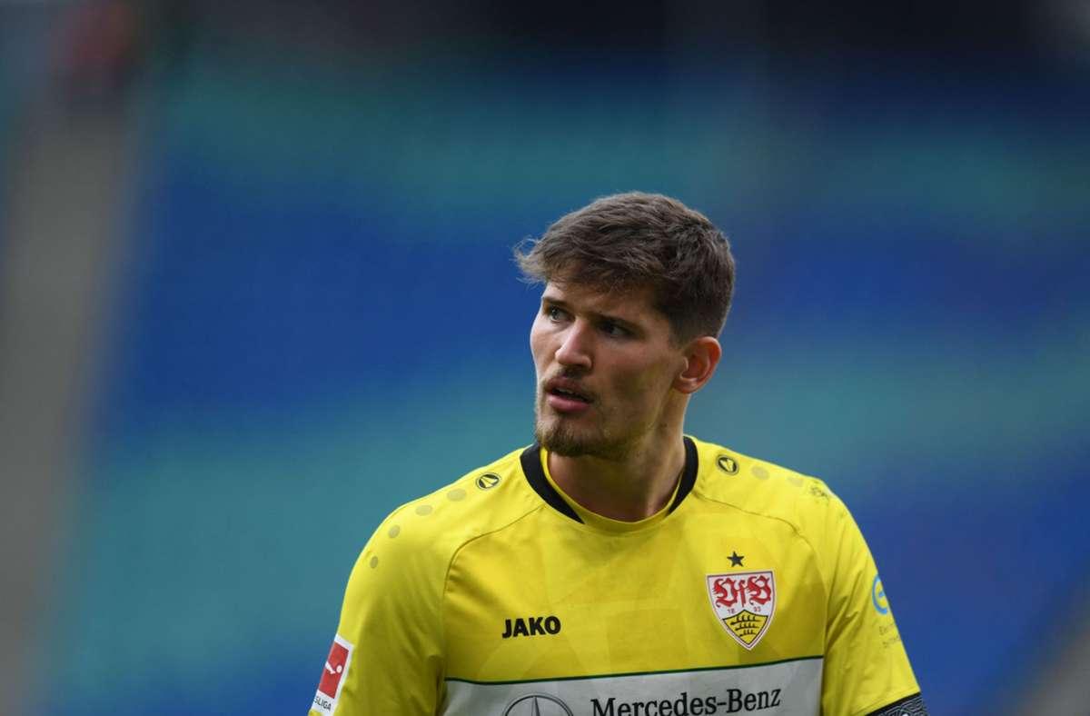 Gregor Kobel musste das Training abbrechen und ist äußerst fraglich für das Spiel gegen den FC Augsburg. Foto: AFP/Annegret Hilse