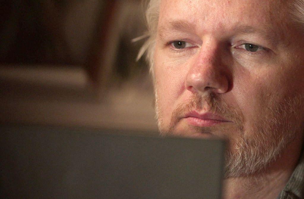 Assange lebt seit 2012 im Exil in der ecuadorianischen Botschaft in London Foto: AP