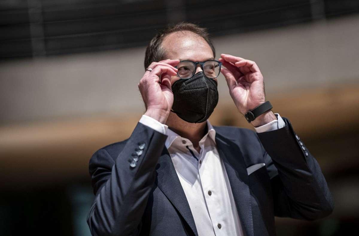 Alexander Dobrindt (CSU) im Untersuchungsausschuss Foto: dpa/Fabian Sommer