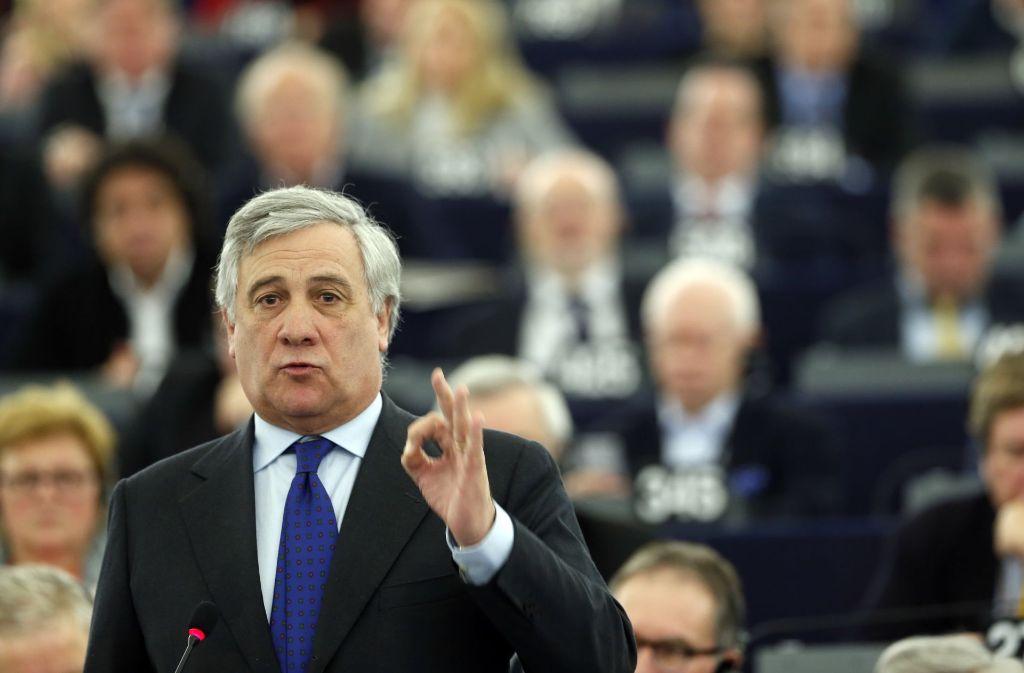 Der italienische Konservative Antonio Tajani wird neuer Präsident des Europaparlaments. Foto: AP
