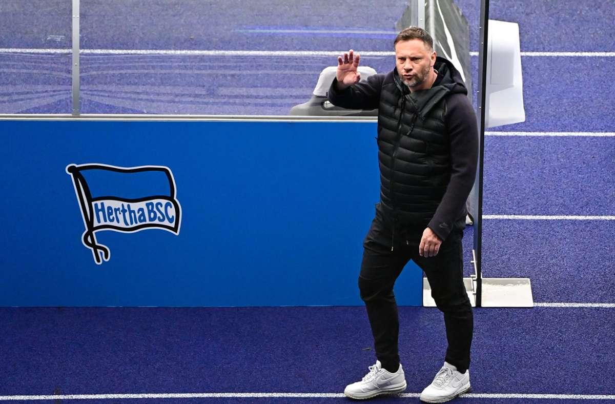 Herthas Trainer Pal Dardai tritt mit seinem Team unter anderem nicht gegen Mainz an. (Archivbild) Foto: dpa/Tobias Schwarz