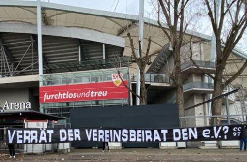 Ultras attackieren Vereinsbeirat des VfB Stuttgart