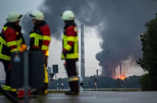 Neun Verletzte bei Explosion auf Bayernoil-Gelände