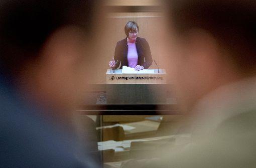 Edith Sitzmann tritt im Kabinett auf die Bremse