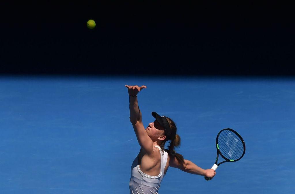 Mona Barthel musste sich Venus Williams geschlagen geben im Achtelfinale der Australian Open. Foto: AFP