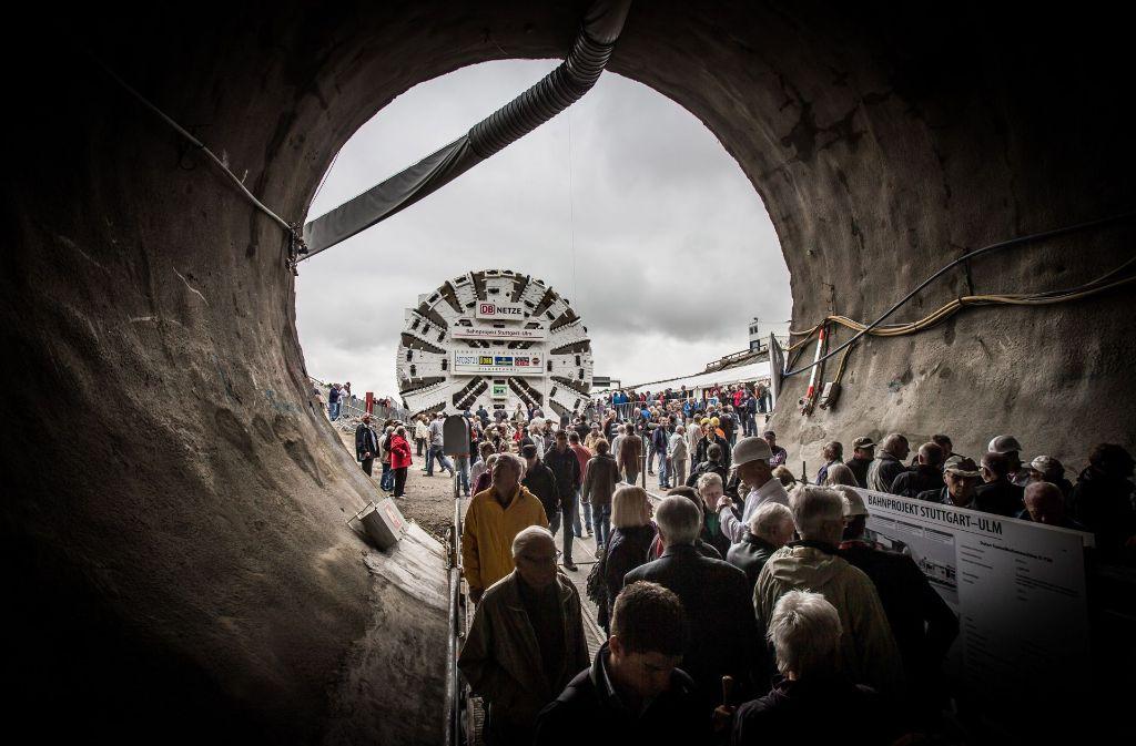 Das Foto zeigt den Baustart des Fildertunnels. Foto: Archiv LG/Achim Zweygarth