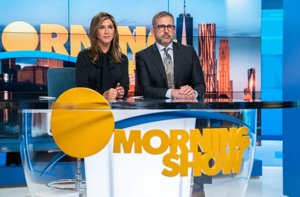 Jennifer Aniston und Steve Carell in The Morning Show Foto: Apple TV+