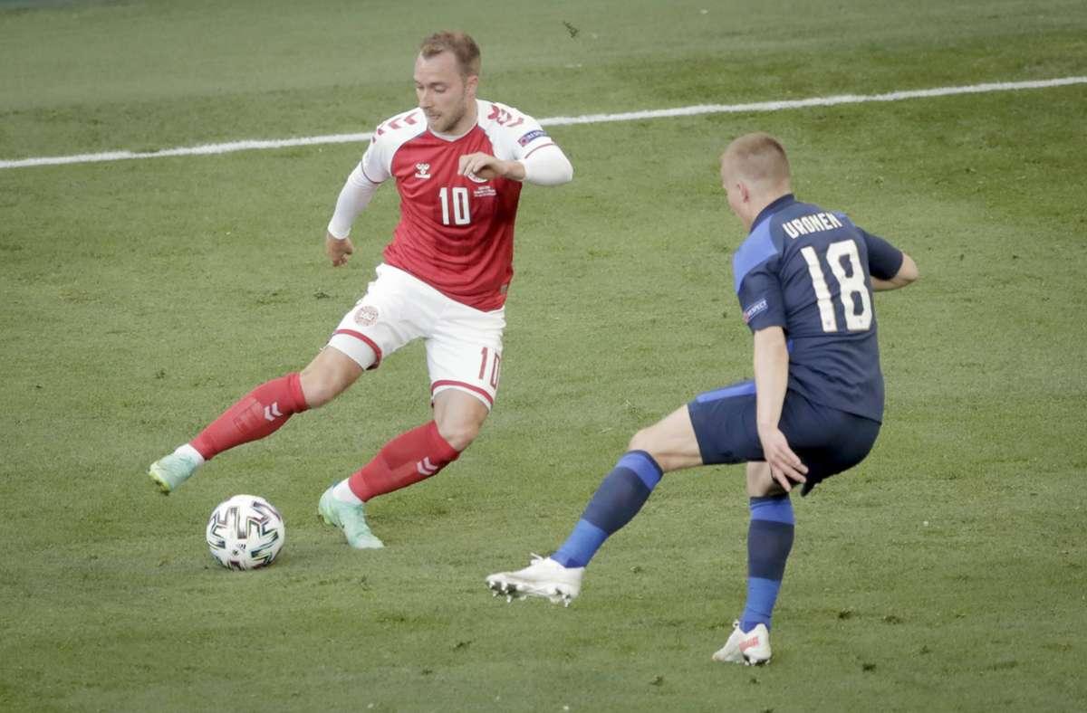 Christian Eriksen brach auf dem Spielfeld zusammen. Foto: imago images/Newspix24/Tomi Hänninen