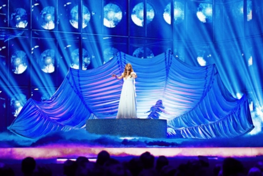 """Valentina Monetta aus San Marino singt """"Maybe"""" von Ralph Siegel. Foto: dpa"""