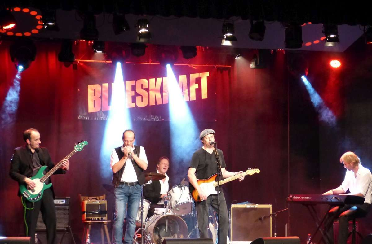 Die Band Blueskraft holt ihre 40-Jahr-Feier per Livestream nach. Foto: Blueskraft/privat