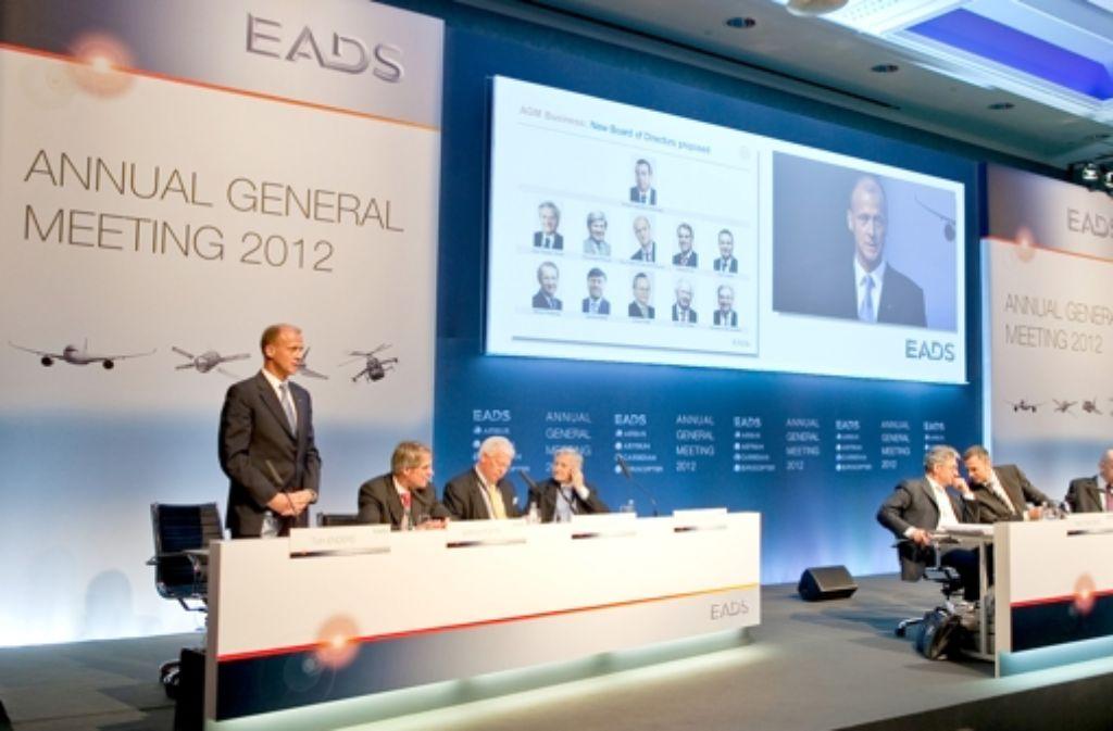 Beim Aktionärstreffen fehlte Arnaud Lagadère. Foto: EADS