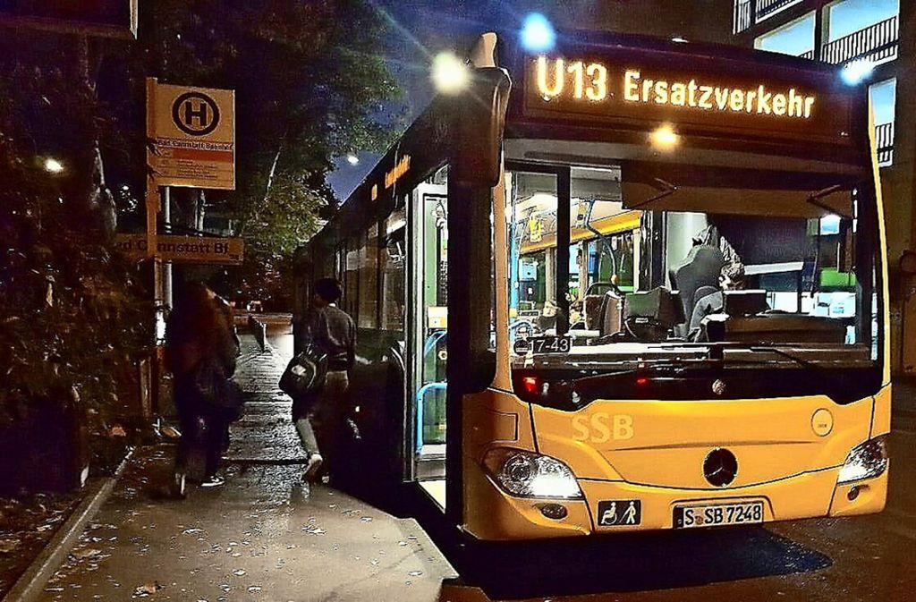 Ist der Stadtbahnverkehr nach einem Unfall für längere Zeit unterbrochen, werden Busse eingesetzt. Foto: