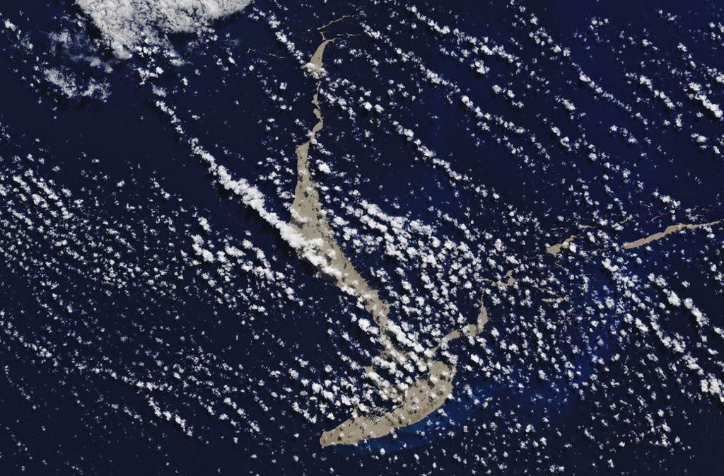 Nach bisherigen Berechnungen bewegt sich der Steinteppich, vorbei anNeukaledonien und Vanuatu, nach Australien. Foto: dpa