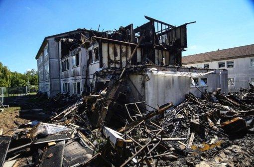 Im Asylheim bricht ein Feuer aus