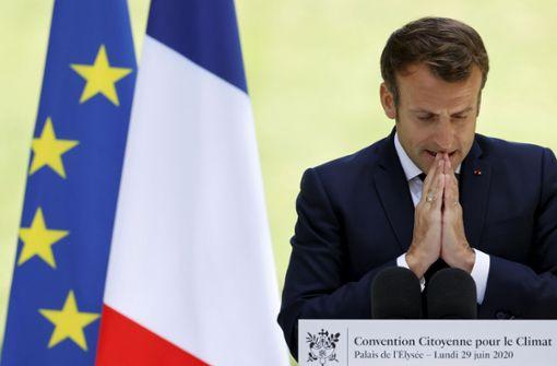 Denkzettel für Emmanuel Macron